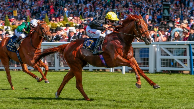Agrotera wins the Sandringham Stakes at Royal Ascot