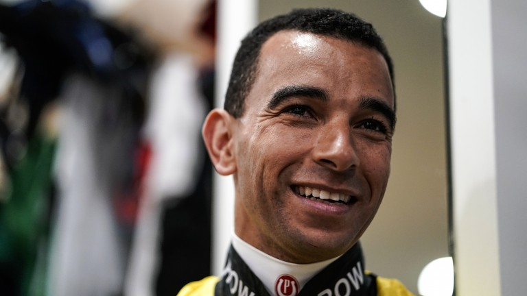 Magic man: superstar rider Joao Moreira looks pleased to be at Ascot