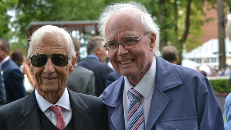 Tom Duddy (right) pictured with Lester Piggott