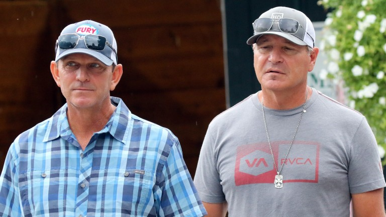 Randy Hartley (left) and Dean DeRenzo at the Fasig-Tipton New York-Bred Yearling Sale