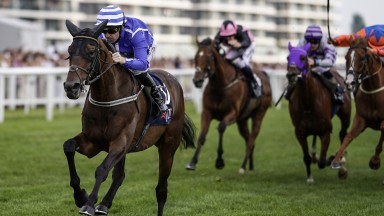Stratum and Robert Winston power home well clear in the JLT Cup at Newbury