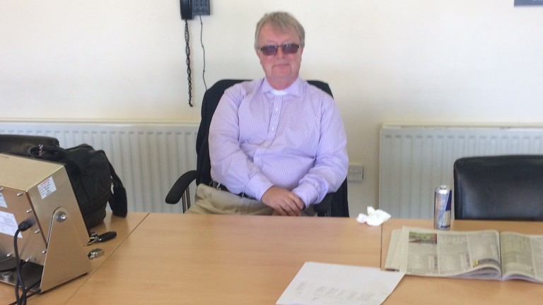 Racing's newest reverend: clerk of the scales Jeremy Lind at Chelmsford