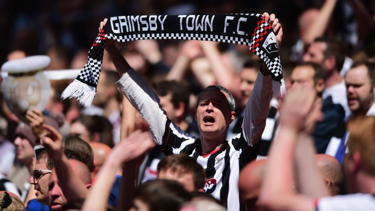 Grimsby Town fans show their support