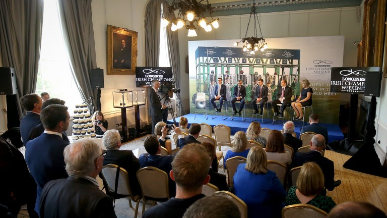 A view of the media launch of Longines Irish Champions Weekend at the Royal College of Surgeons