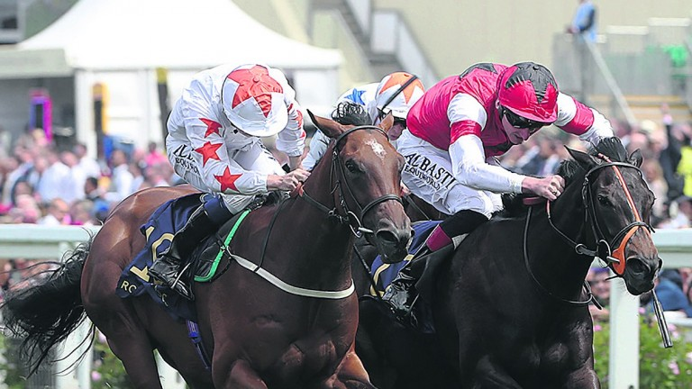 Signora Cabello (left) wins the Queen Mary at Royal Ascot