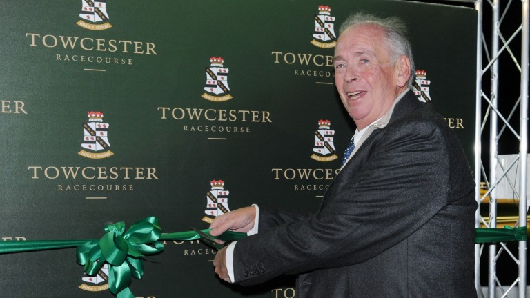 Lord Hesketh at the official opening of Towcester greyhound track in 2014