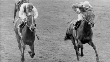 Brigadier Gerard ridden by Joe Mercer (right) wins the St James's Palace Stakes at Royal Ascot