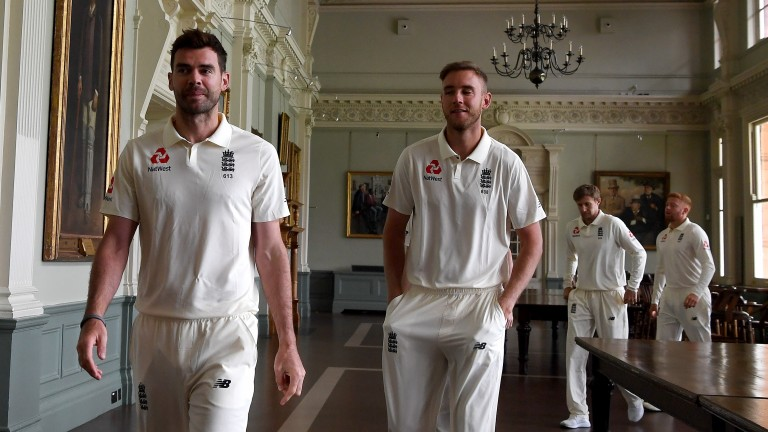 James Anderson (left) and Stuart Broad helped bowl England to victory at Lord's