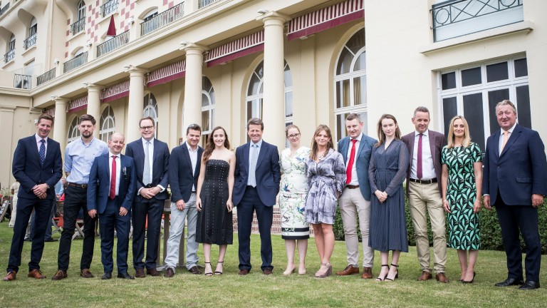 The Racing Post and Weatherbys teams at Deauville