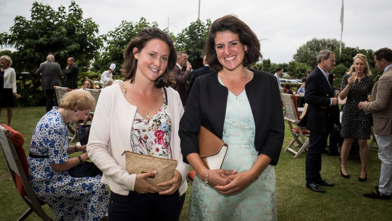 Recently-appointed nominations manager for Aga Khan Studs France, Fanny Cypres (left), pictured alongside marketing director Aline Giraud