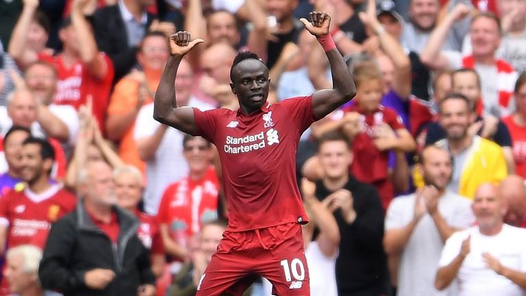 Liverpool flyer Sadio Mane scored twice against West Ham