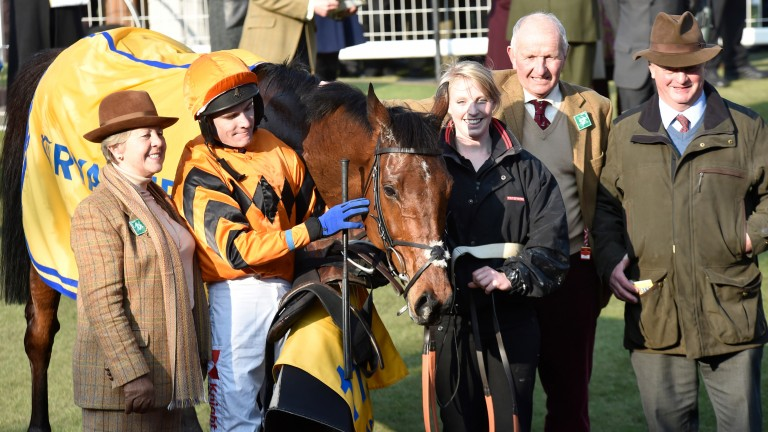 John Snook (second right) with the Thistlecrack team