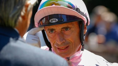 Gerald Mosse: riding as well as ever and completed a double on Sky Bet Sprint Finale winner Udontdodou