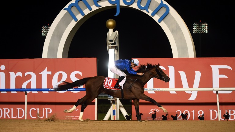 Thunder Snow and Christophe Soumillon win the Dubai World Cup