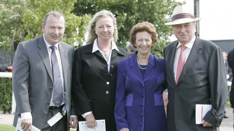 Mick O'Toole with his wife Una and children Ciaran and Margaret