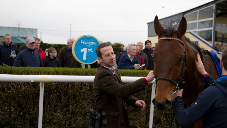 Jim Culloty after Lake Takapuna's win in the 2m maiden hurdle Tipperary