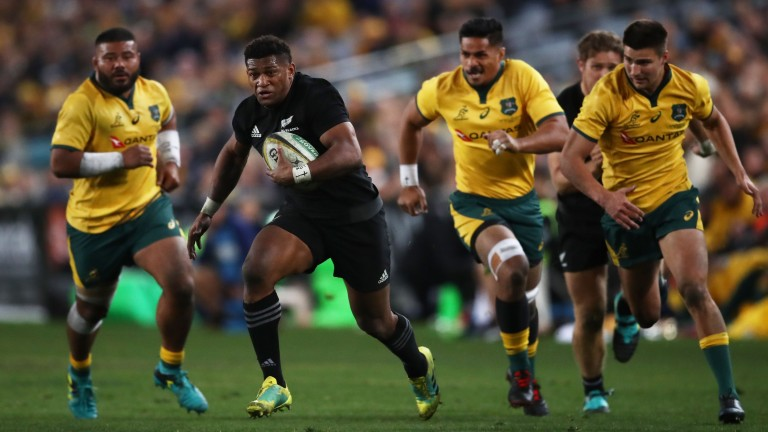 Waisake Naholo is part of a dangerous All Blacks backline in Tokyo