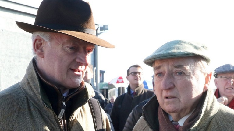 Mick O'Toole (right) with Willie Mullins at Thurles last year