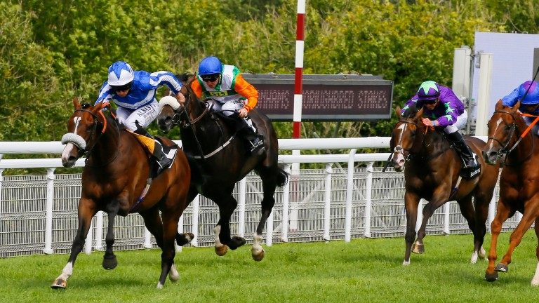 Celebration Mile favourite Beat The Bank (Ryan Moore) is an impressive Group 3 winner at Glorious Goodwood last year