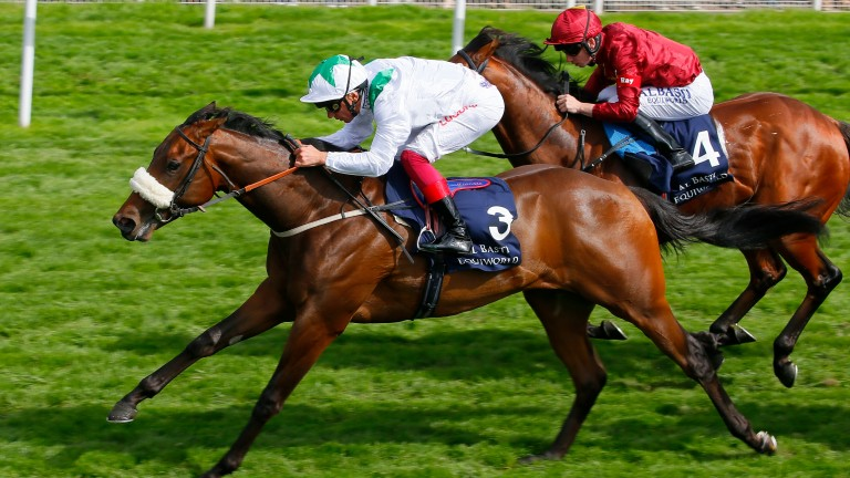 Emaraaty Ana: a determined winner of the Gimcrack Stakes for Kevin Ryan and Frankie Dettori