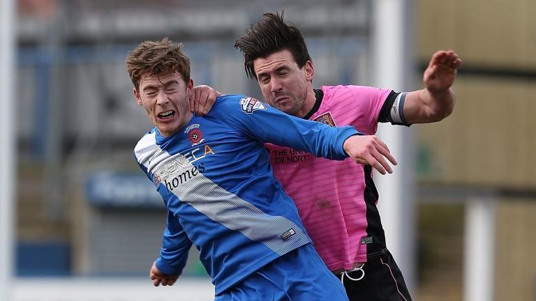 Luke James (left) has impressed since returning to Hartlepool