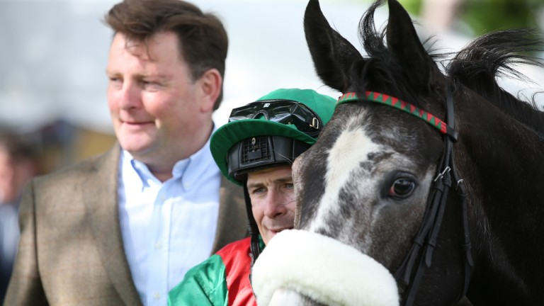 Pat Downes (left) with Pat Smullen: relief and relish for Sea The Stars' stud success