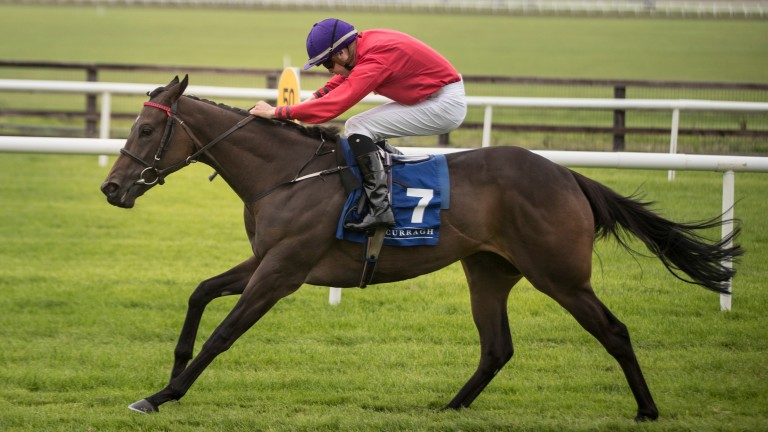 Skitter Scatter storms to success in the Group 2 Debutante Stakes at the Curragh