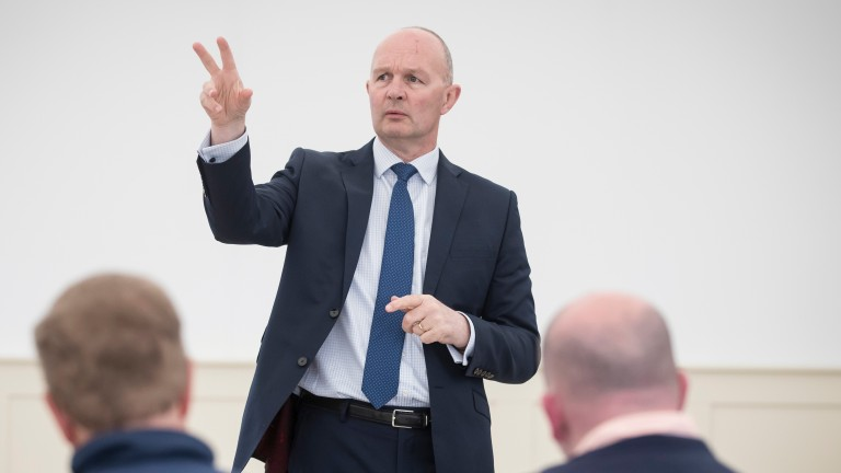 "Derek McGrath Curragh chief executive: ""It's very unlikely we will reduce field sizes, because having 30-runner races is something the Curragh holds dear"""