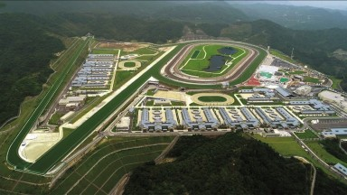 An aerial view of Conghua racecourse. Pic: HKJC