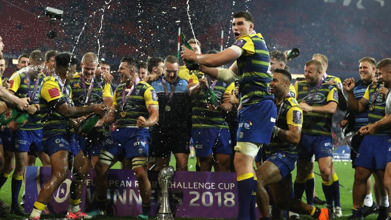 Cardiff Blues celebrate their European Challenge Cup final victory over Gloucester last season