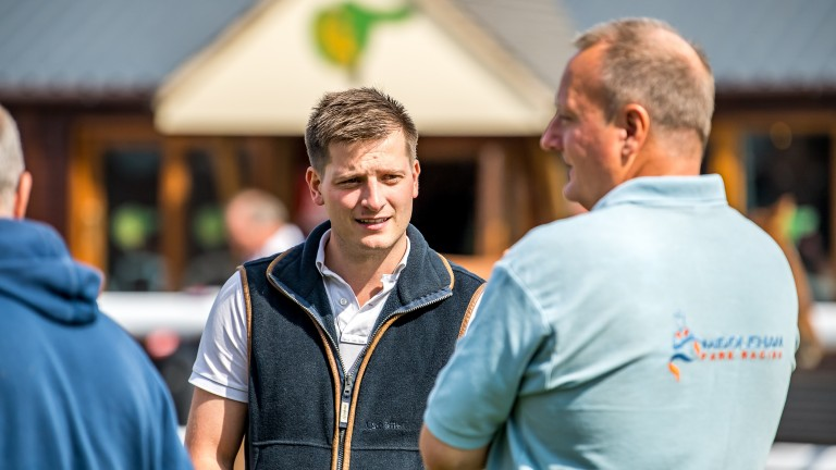 Tom Palin (centre) on the lookout for talent but not compromising on quality
