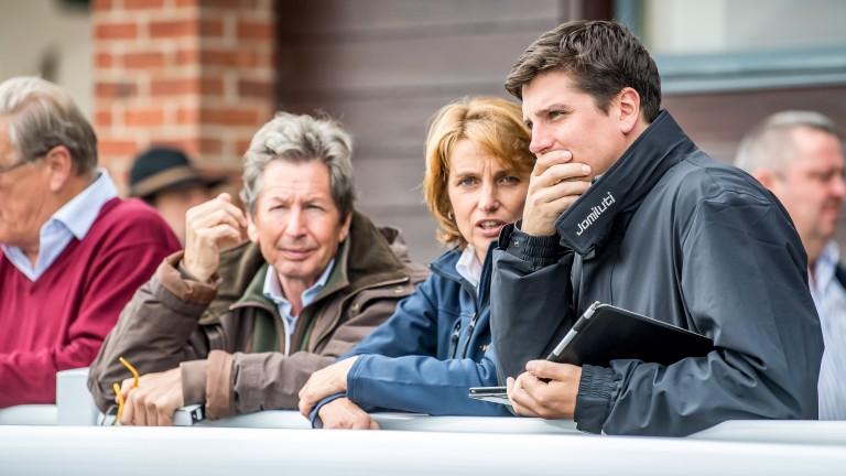 A family affair: John Warren, Lady Carolyn Warren and their son Jake