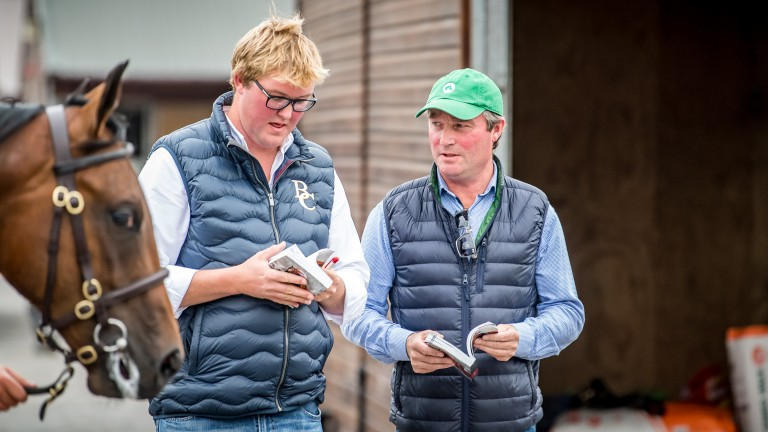 Freddie Meade and Dermot Farrington compare notes