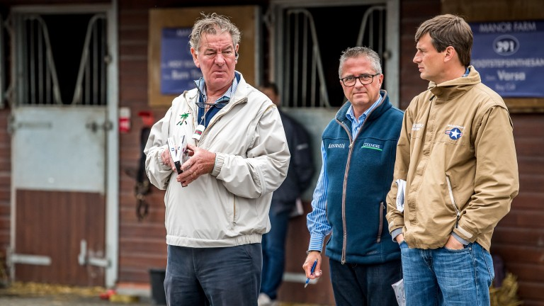 Paul Shanahan and Kevin Buckley of Coolmore with trainer Fozzy Stack