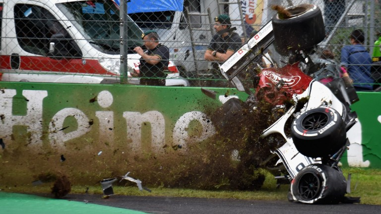 Marcus Ericsson escaped unhurt after a huge accident in second practice