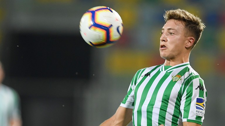 Francis Guerrero of Real Betis in action