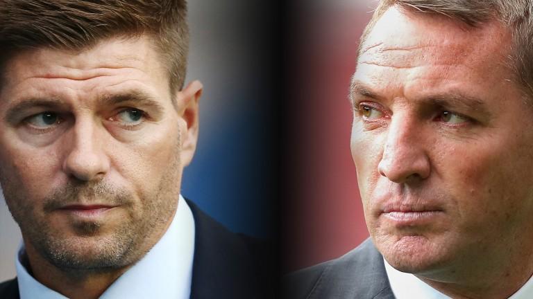 Steven Gerrard takes on his old Liverpool boss Brendan Rodgers