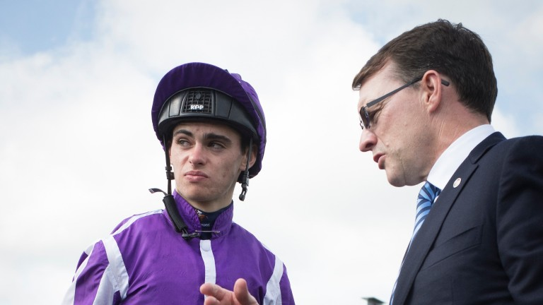 Aidan O'Brien discusses the victory of Ten Sovereigns with son Donnacha