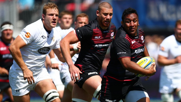 Prop Mako Vunipola is among the England internationals in Saracens' ranks