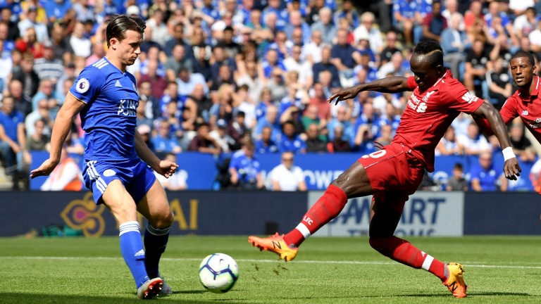 Sadio Mane fires Liverpool into the lead at Leicester