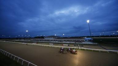 CHELMSFORD, ENGLAND - MAY 03:A general view as runners cross the finish line at Chelmsford City racecourse on May 3, 2018 in Chelmsford, United Kingdom. (Photo by Alan Crowhurst/Getty Images)