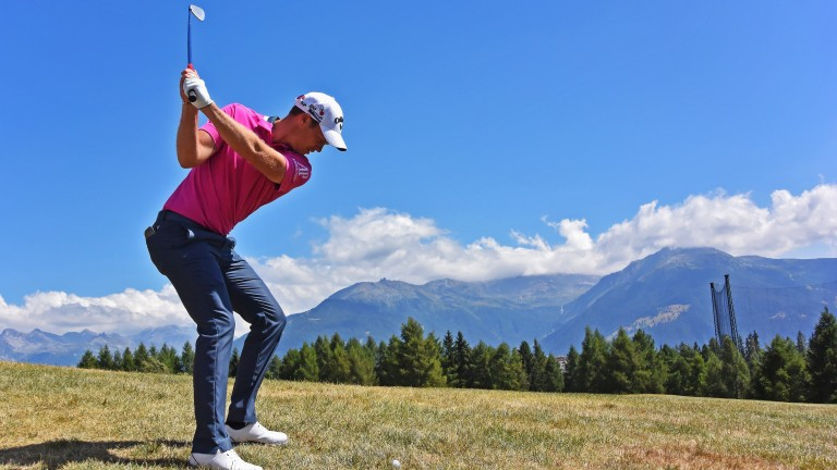 Danny Willett plays a shot on his way to winning the 2015 European Masters at Crans-sur-Sierre