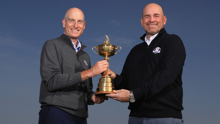 Ryder Cup captains Thomas Bjorn (right) and Jim Furyk
