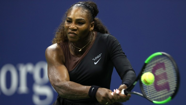 Serena Williams looks the personification of power on her way to defeating Karolina Pliskova