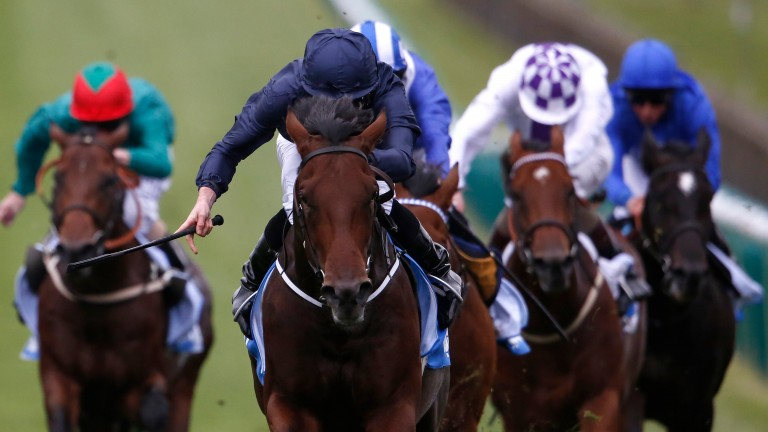 Air Force Blue wins 2015 Dewhurst Stakes at Newmarket
