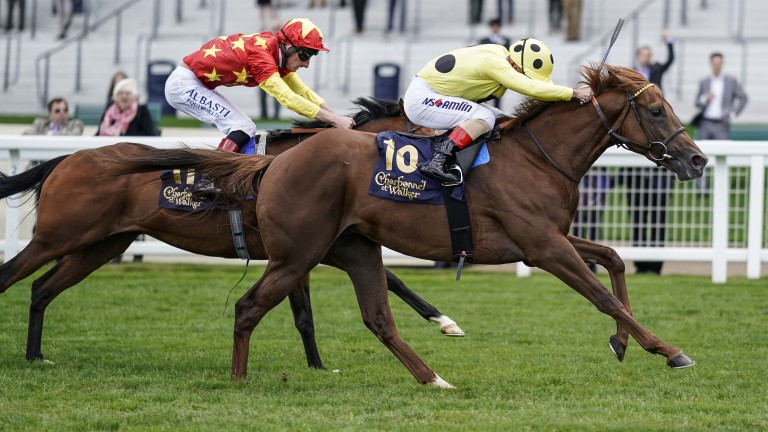 The pricey Prince Eiji (right) holds off the fast-finishing Red Armada at Ascot