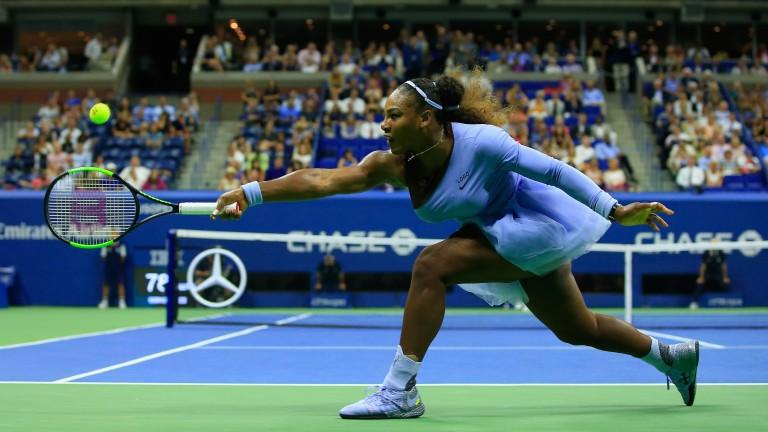 Serena Williams reaches wide on her way to victory over Anastasija Sevastova