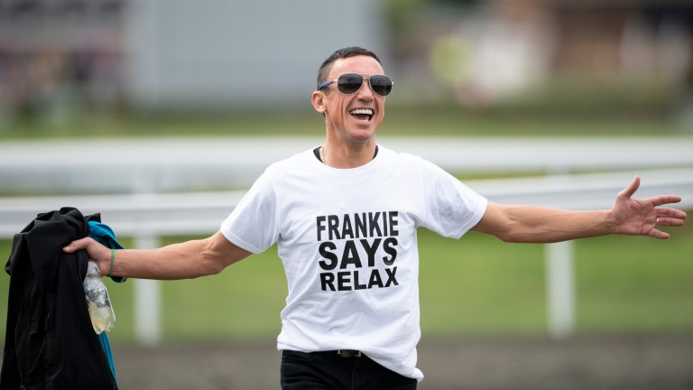 Frankie Dettori arrives at the helicopter to take him to Haydock, before being told the plan was scrapped