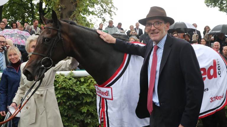 James Fanshawe with The Tin Man in the winner's enclosure