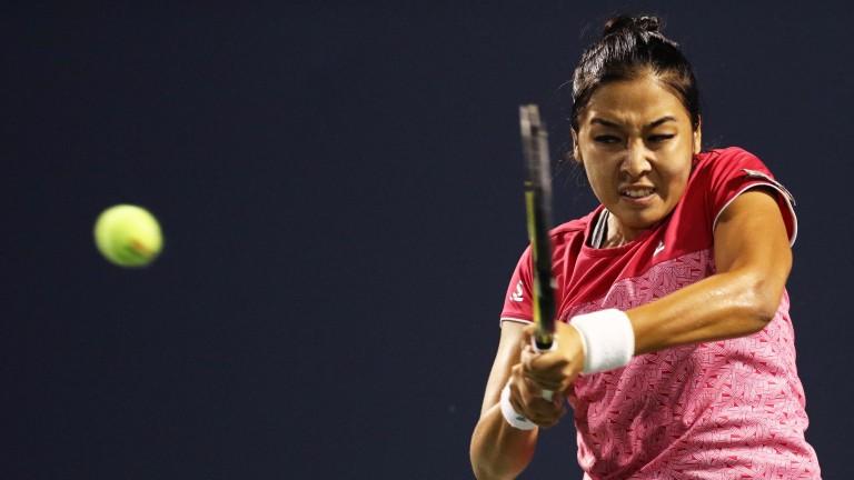 Zarina Diyas at the Connecticut Open